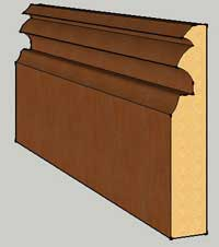 Dynasty sapele Skirting
