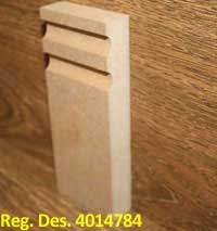Jazz 2 sapele Skirting