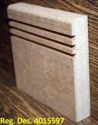 Modern 2 sapele Skirting