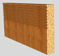 Panel maple Skirting