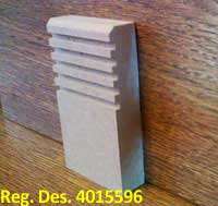 Ribbed MDF Skirting