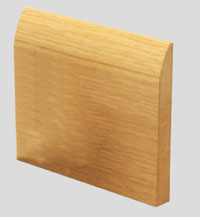 Round sapele Skirting