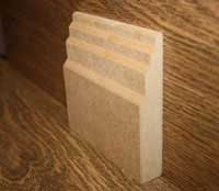 Stepped MDF Skirting