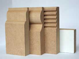 An example of MDF skirting board profiles