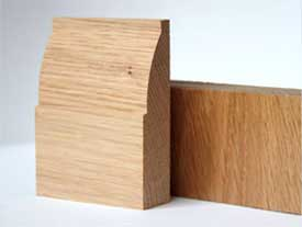 An example of Oak skirting board profiles