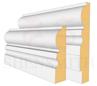 323 MDF Skirting Board