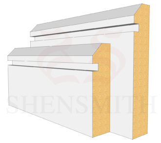 45 Rebated 1 MDF Skirting Board