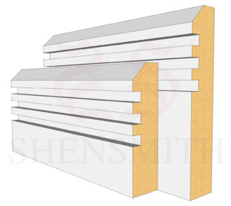 45 Rebated 3 MDF Skirting Board