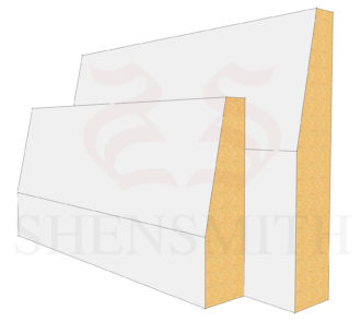 Bevelled MDF Skirting Board