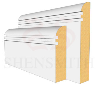Bullnose Rebated 2 MDF Skirting Board
