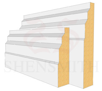 Stepped MDF Skirting Board