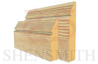 1898 profile Pine Skirting Board