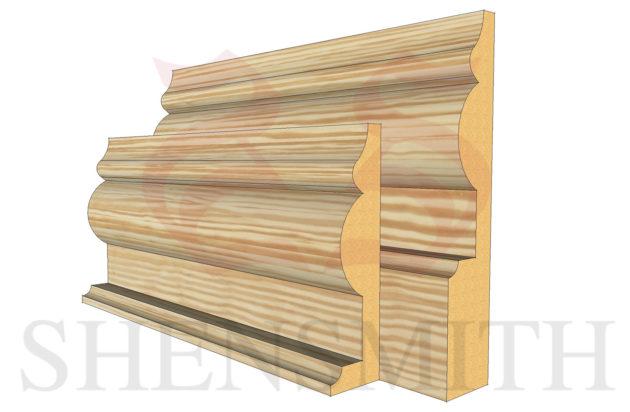 1914 profile Pine Skirting Board
