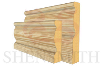 2107 profile Pine Skirting Board