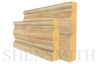 2107 profile Pine Skirting Board