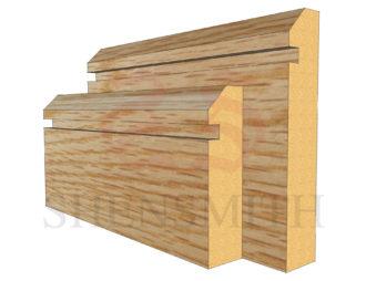 45 rebated 1 Oak Skirting Board