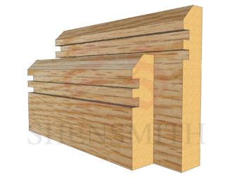 45 rebated 2 Oak Skirting Board