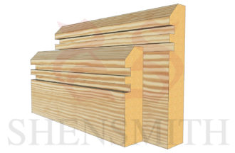 45 rebated 2 profile Pine Skirting Board