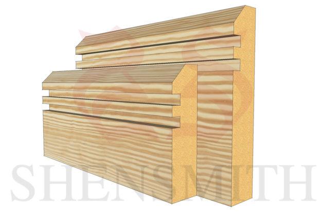 45 rebated 2 profile Pine Skirting Board