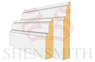 Lambs tongue classic Profile Skirting Board
