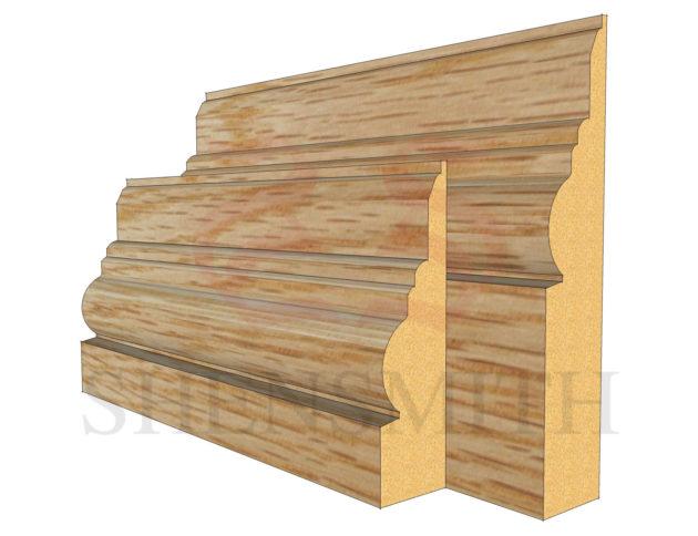 antique Oak Skirting Board