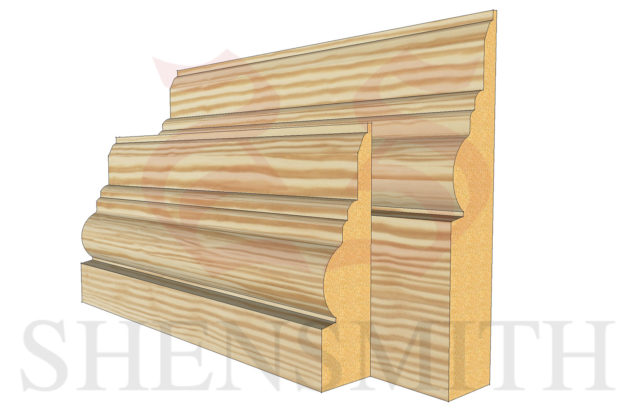 antique profile Pine Skirting Board