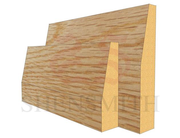 bevelled Oak Skirting Board