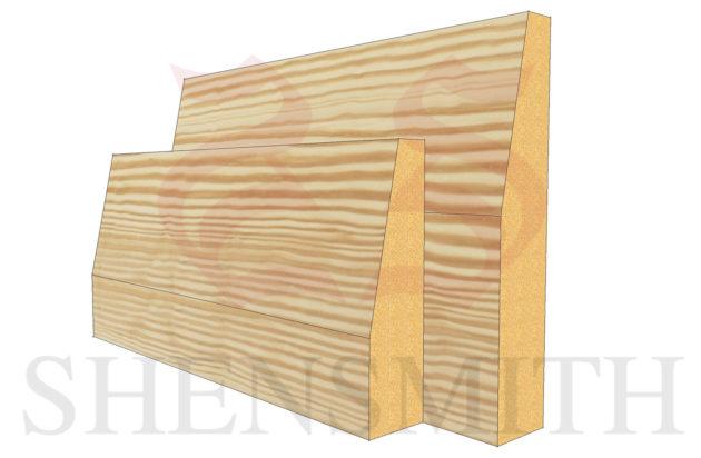 bevelled Pine Skirting Board