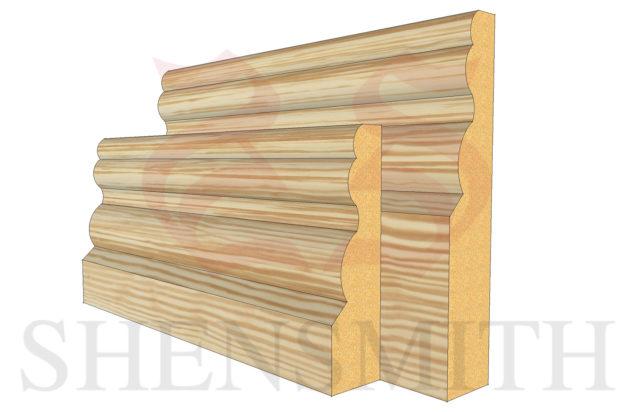 buckingham profile Pine Skirting Board
