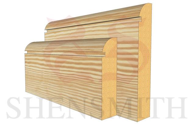 bullnose rebated 1 profile Pine Skirting Board