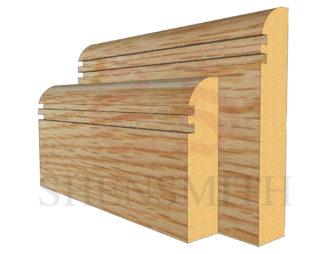 bullnose rebated 2 Oak Skirting Board