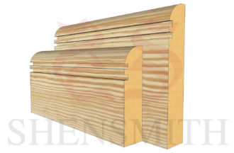 bullnose rebated 2 profile Pine Skirting Board