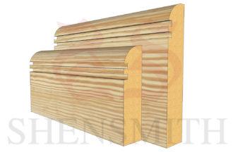 bullnose rebated 2 profile Pine Skirting Board