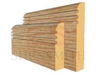 bullnose rebated 3 Oak Skirting Board