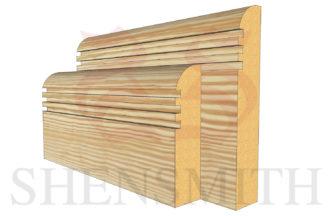 bullnose rebated 3 profile Pine Skirting Board
