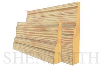 castle profile Pine Skirting Board