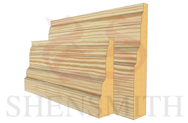 castle profile Pine Skirting Board