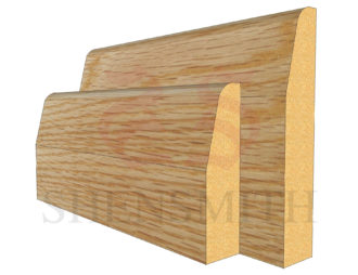 chamfered Oak Skirting Board