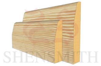 chamfered profile Pine Skirting Board