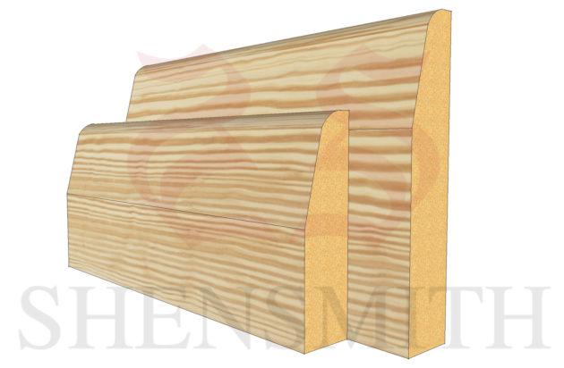 chamfered profile Pine Skirting Board