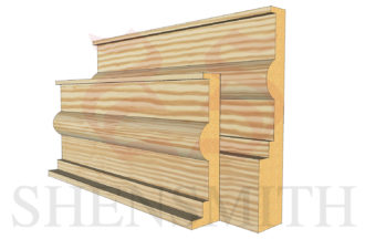 classic profile Pine Skirting Board