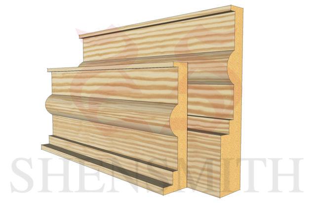 classic profile Pine Skirting Board