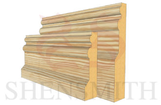 colonial profile Pine Skirting Board