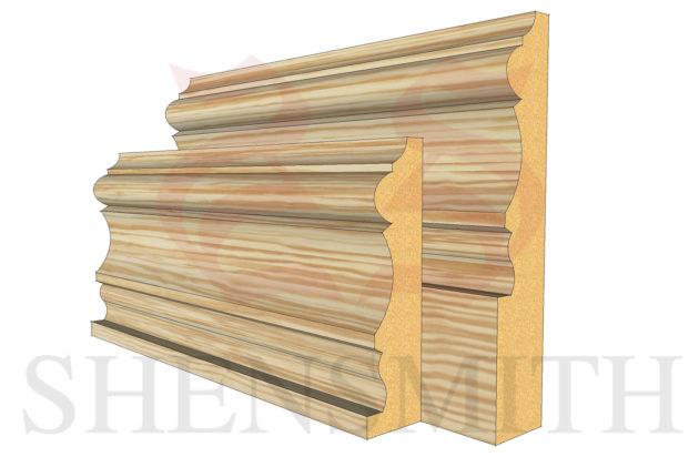 derby profile Pine Skirting Board