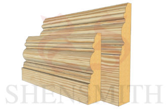 devon profile Pine Skirting Board