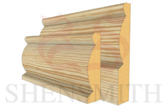 domed profile Pine Skirting Board
