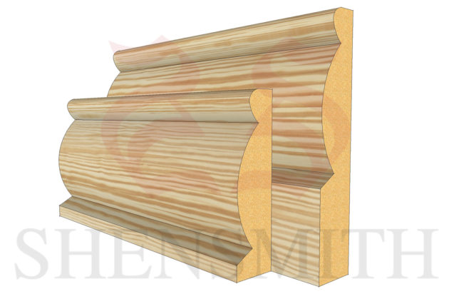 domed profile Pine Skirting Board
