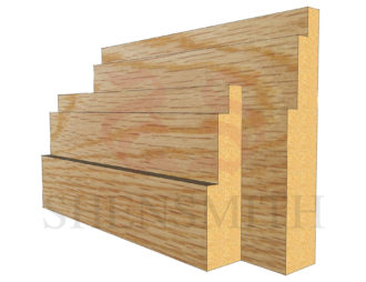 double step Oak Skirting Board