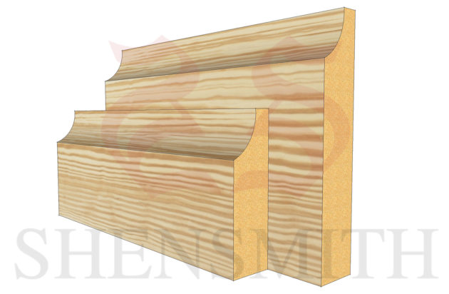 edge profile Pine Skirting Board