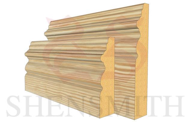 elizabethan profile Pine Skirting Board